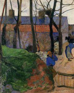 Paul Gauguin - Houses in le Pouldu 1890