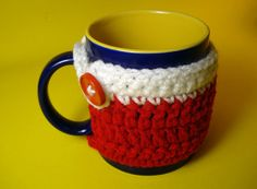 Mug cozy  Mug warmer  Mug Hug  handmade crochet by HaniyyaBazaar, $4.95