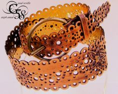 Carved Vintage Jewellery belt by seville