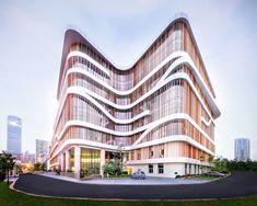 atelier alter translates bamboo into double façade for senior center