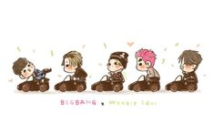‪[fanart] #BIGBANG at Weekly Idol ‬