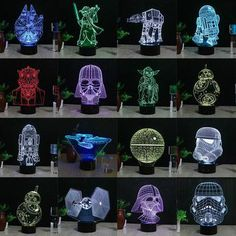Star Wars 3D Millennium Falcon Lighting Colorful Table Lamp Night light Gifts