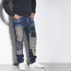 JEANS PATCHED #jeans #patched #patch #man #italogy #italogyofficial #madeinitaly #authentic #italian #couture #musthave