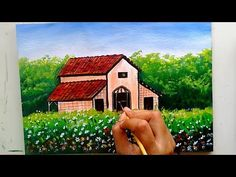 I have painted an easy and beautiful garden house scenery. Acrylic Colors used here are: 423 Tita. Scenery Paintings, Acrylic Painting Tutorials, Beginner Painting, Acrylic Colors, House Painting, Beautiful Gardens, Project Ideas, Projects, Arts And Crafts