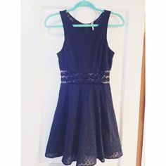 Black fitted with daisies dress. Worn once. Free People Dresses Mini