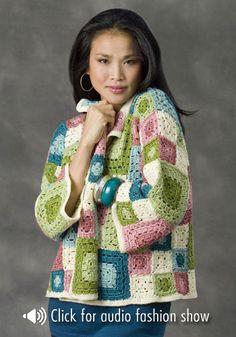 NaturallyCaron.com :: Tulsa Jacket - free crochet pattern