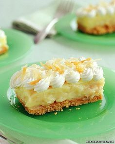 Coconut Cream Bars... Okay, as we say in the south... these look good enough to make you slap your mama :D... lol... and for those of you who don't understand that, it means they will make you crazy :D