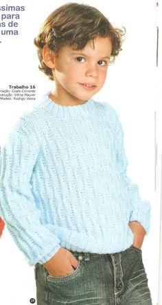 Artesanato diversão e prazer: Blusa de trico para menino com receita
