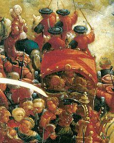 Artist: Altdorfer, Albrecht, Title: Schlacht bei Issus (Alexanderschlacht), Detail [4/7] Date: 1529