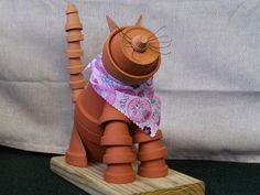 Pot people to cats & dogs... cute DIY garden art.                                                                                                                                                                                 More