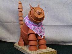 Pot people to cats & dogs... cute DIY garden art.