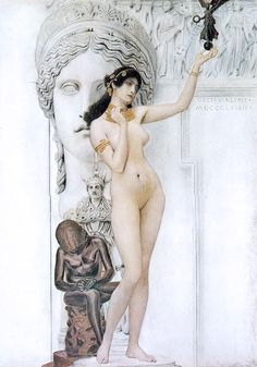 Allegory of Sculpture by Gustav Klimt, 1889