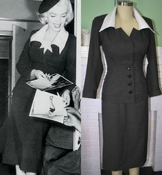 Marilyn Monroe Suit Grey Wool