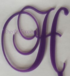 What if we blinged it out?! Would this look good with the boraches on the cake and bring out the purple? - 5 Purple Monogram Cake Topper Acrylic  Free by iCreateToppers, $15.00