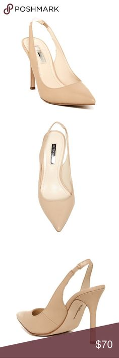 ✨ BCBGeneration✨Tatyana Leather Slingback Pump ✨ BCBGeneration✨Tatyana Leather Slingback Pump in nude / beige color   EUC (see photos re slight indent on front of left heel) BCBGeneration Shoes Heels