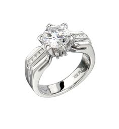 Bergio Bridal Ring: 18 Karat Gold or Platinum with White Tapered Baguette Cut Diamonds - See more at: http://www.bergio.com/collections/bridal-ring-bb1062/#sthash.bSAWHi8J.dpuf