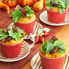Savory Pumpkin and Greens Soufflé