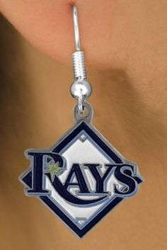 Tampa Bay Rays Gold Earrings