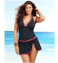 c7c868793d9 Halter Push Up Set Swimsuit Swimwear Dress Skirt Beachwear Tankini Top