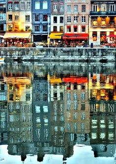reflected, cityscape