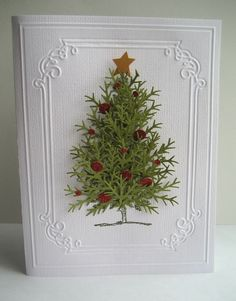 old-fashioned christmas tree. Love this beautiful card!
