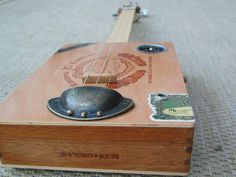 3 string Cigar box guitar DIY CBG tail piece diy antiqued look , cast iron with…