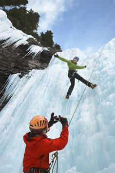 Try ice climbing in the enchanting Johnston Canyon.