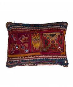 Indian banjara embroidered Cushion (Tulsi Mumbai)