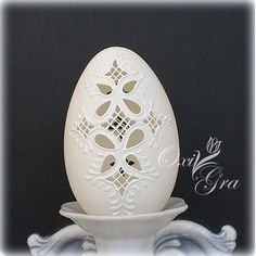 Zdjęcie nr 17 w galerii GALERIA PERŁOWO-KRZYŻOWA ;) – Deccoria.pl Easter Egg Crafts, Easter Eggs, Diy Crafts For Home Decor, Arts And Crafts, Types Of Eggs, Painted Rocks, Hand Painted, Carved Eggs, Egg Art