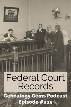 Take your family history research to the next level with federal court records. In this article and podcast episode you'll learn everything you need to know to get started finding and using these rich records for your genealogy research. It's easier than you think! #genealogy #podcast #brickwall #familyhistory Archive Website, List Of Resources, Court Records, Circuit Court, District Court, Genealogy Research, National Archives, My Heritage, Historian