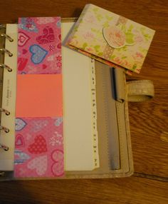 Filofax Bookmark Memo Holder by NatalieShaunaCrafts on Etsy