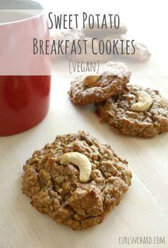 Sweet Potato Breakfast Cookies (vegan, paleo) | curlsnchard.com