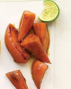 Glazed Sweet Potatoes with Brown Sugar and Lime