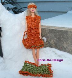 5 delt barbisett Barbie, Crochet, Vintage, Dresses, Design, Fashion, Dress, Vestidos, Moda
