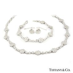 Tiffany & Co. Diamond Flower Suite in Platinum approx. 15.00ct G/VS http://www.richdiamonds.com/product/tiffany-co.-diamond-flower-suite-in-platinum-approx.-15.00ct-g-vs/4505