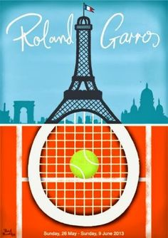 Roland Garros Poster by Paul Thurlby (http://www.paulthurlby.com/)