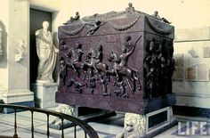EVGENIA GL Vatican Treasure: Sarcophagus of St. Mother of Roman Emperor Constantine I the Great (who legalized Christianity in 313 with his Edict of Milan)