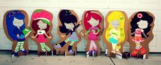 Strawberry Shortcake Cardboard Photo Cutouts