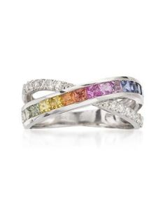 Ross-Simons 1.00ct t.w. Multicolored...