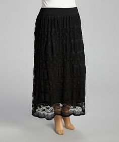 Love this Black Lace Maxi Skirt - Plus by Shoreline on #zulily! #zulilyfinds