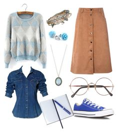 """Senza titolo #99"" by bauletto on Polyvore featuring moda, Converse, Glamorous, Moschino, Sunday Somewhere, Smythson, Aéropostale, Armenta, women's clothing e women's fashion"