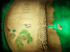 Map of Valinor and the Undying Lands by Jamie Whyte