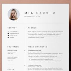 Resume Template 3 Page CV Template Cover Letter / Instant | Etsy Cv Cover Letter, Cover Letter Template, Letter Templates, Resume Template Free, Free Resume, Great Resumes, Create A Resume, Job Employment, Thank You Letter