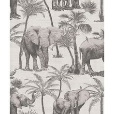 Let elephants grace your walls with this stunning charcoal wallpaper with metallic highlighted feature design. This wallpaper can be used as a feature wall, or as a option too. This fantastic non-woven (paste the wall) wallpaper has a fabric l