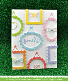 Lawn Fawn Intro: Gotta Have Gingham, Mini Picture Frames - Lawn Fawn
