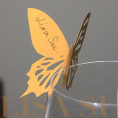 I like this design more (easier to do) 50 Perfect Swallowtail Butterfly Place Card / Escort by lisasu, $22.00