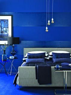 Cobalt Bedroom Via Ideal Home Uk Green Decor Ideas