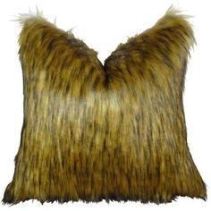 Plutus Mountain Coyote Handmade Throw Pillow, Brown