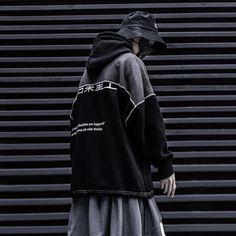 - Sleeve Length: Full- Thickness: Standard- Material: Cotton Urban Fashion, Mens Fashion, Street Fashion, Adidas Jacket, Chinese Clothing, Black Hoodie, Sleeves, Cotton, Street Wear