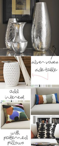 spray paint vases silver
